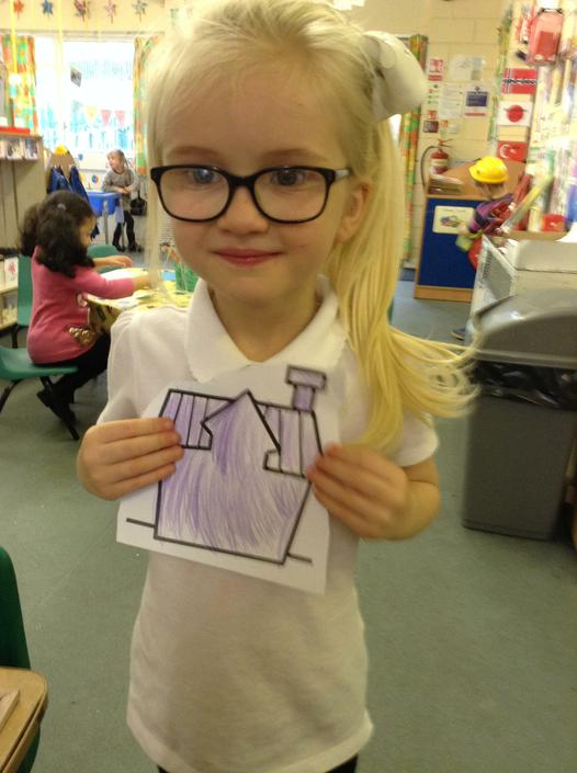LF was very proud of her picture.