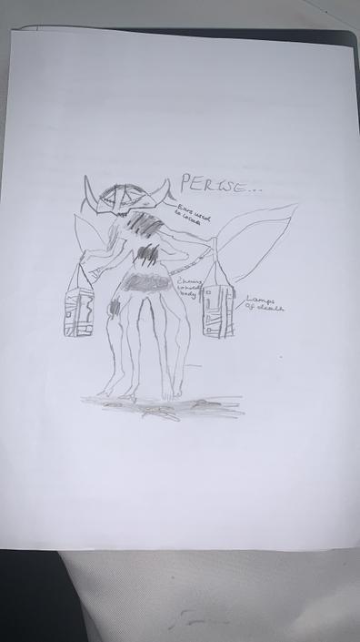 AF- What a menacing monster! Like my alliteration?