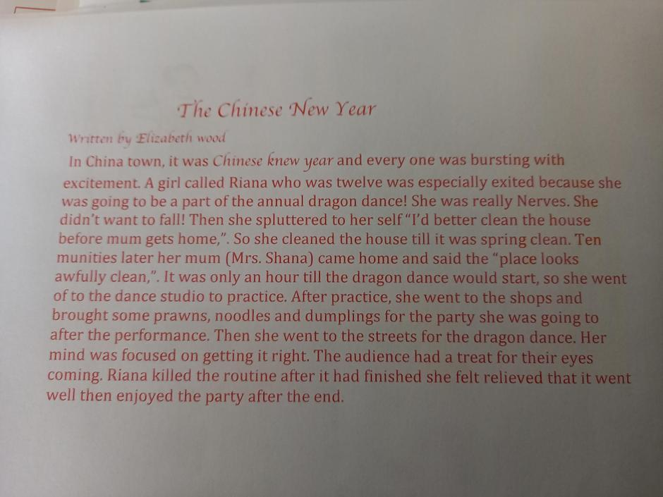 Wow. I really enjoyed reading this. A fantastic story based on Chinese New Year.