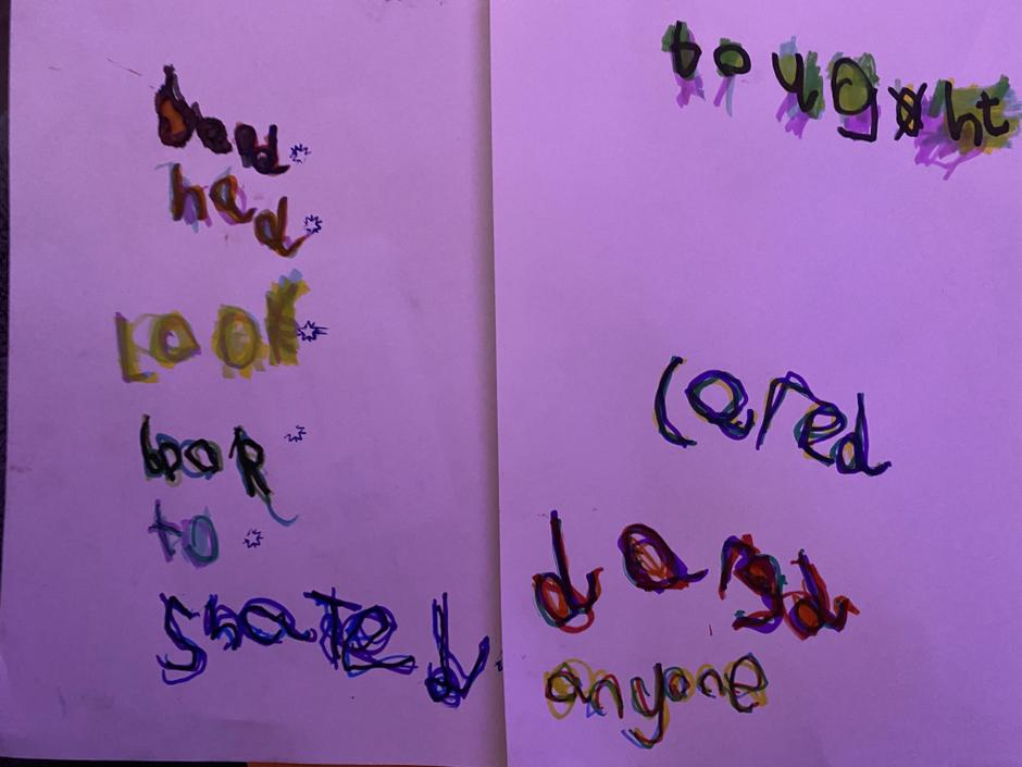 A lovely example of rainbow letters.