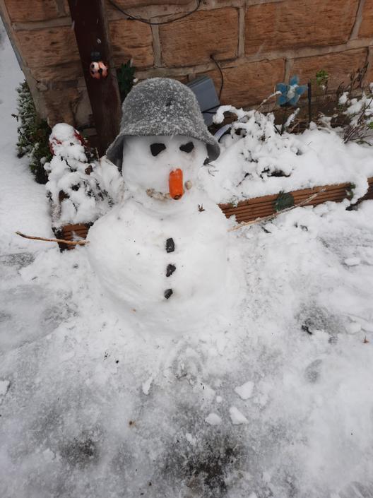 A suspicious looking snowman!