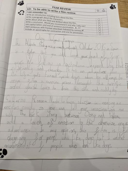 I'm pleased to see that you've used the resources to help with your writing.😎