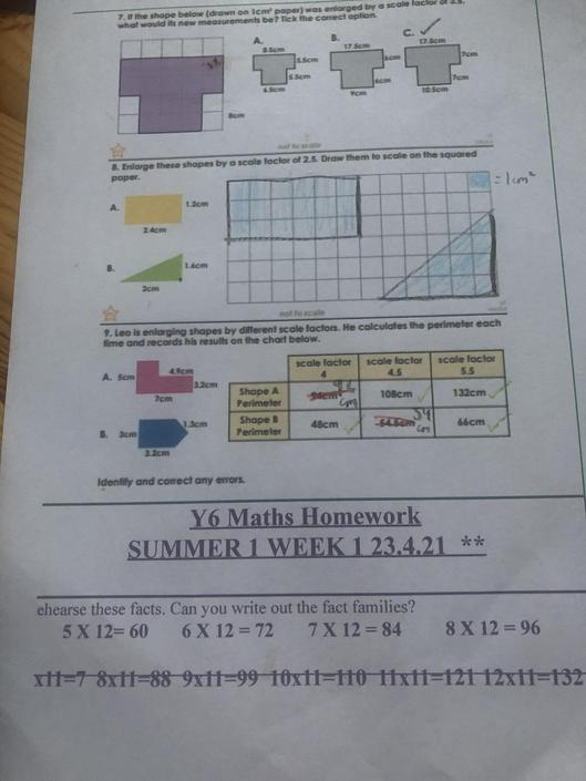 EF - accurate maths work, well done!