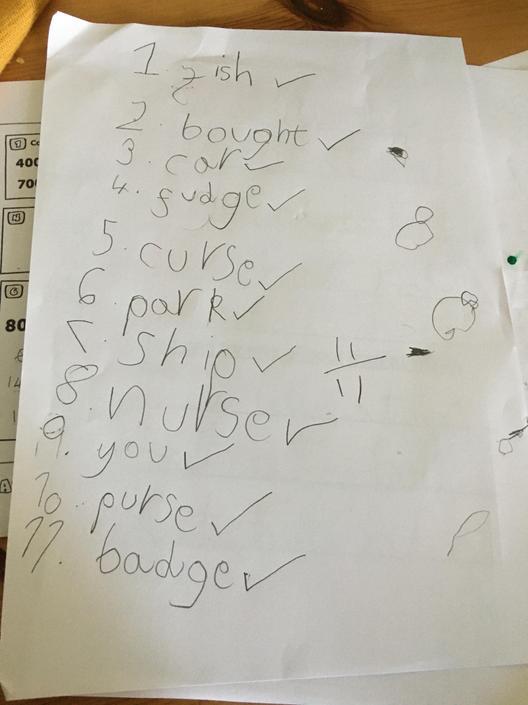 Super spellings! Practise b/g/d formation.