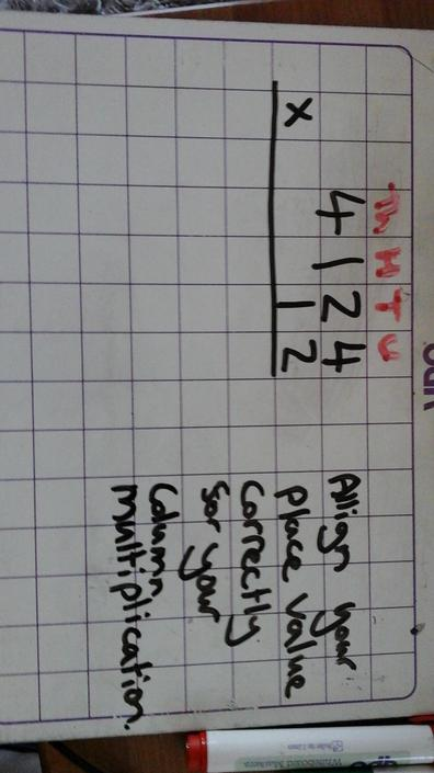 Place the numbers in the correct place value columns