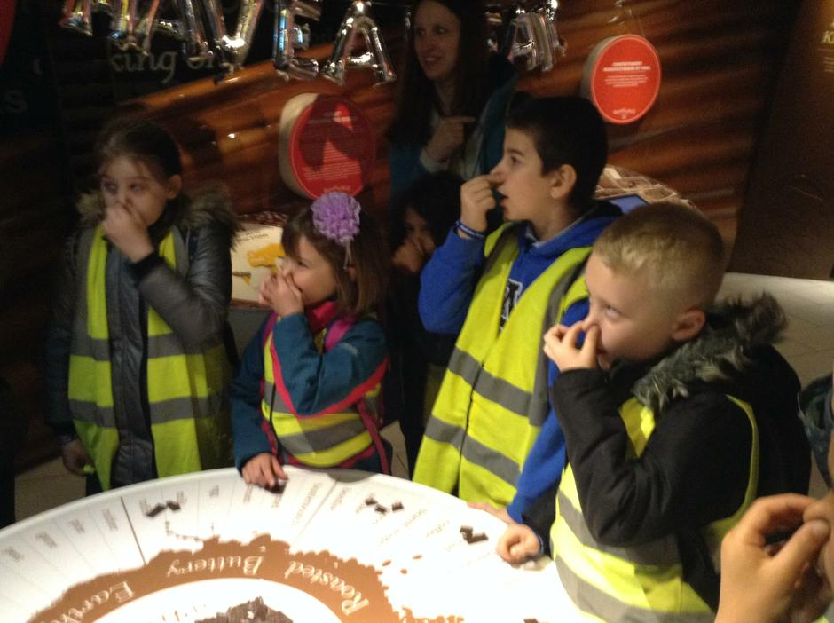 Learning to taste chocolate.