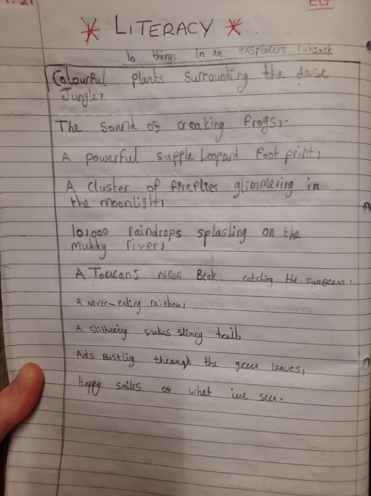 Well done! Your poem is excellent and your writing is very neat.
