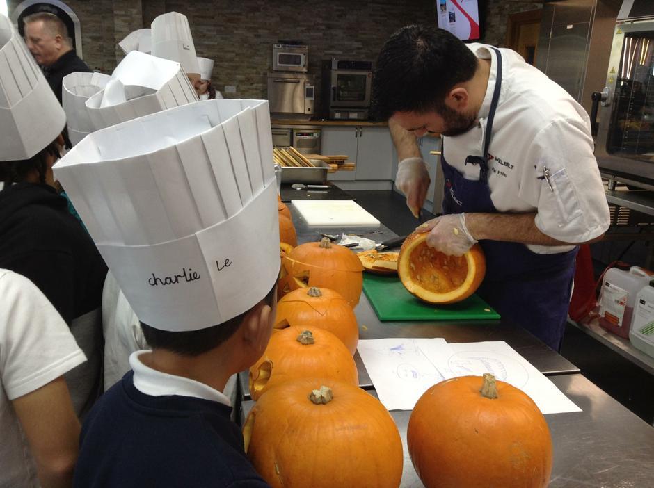 More pumpkin carving.