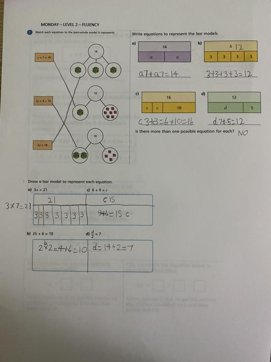 JB- Great work at solving the equations!