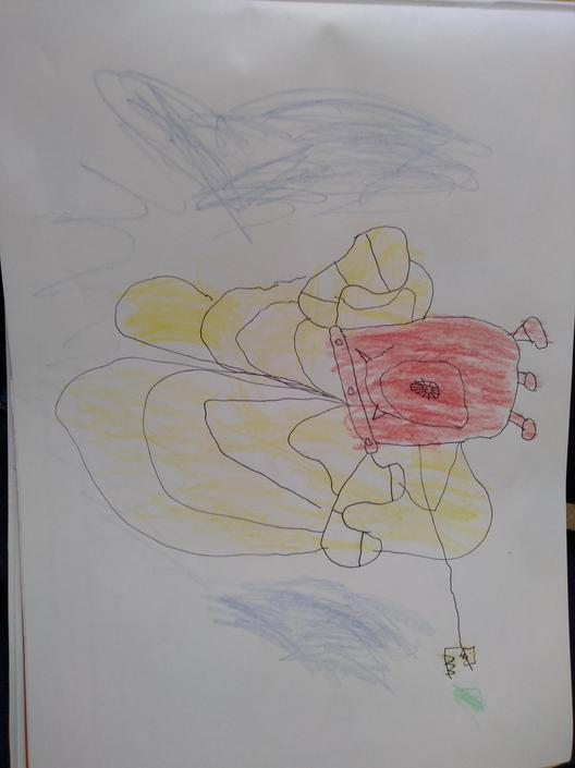 Great drawing. Keep trying hard with your colouring