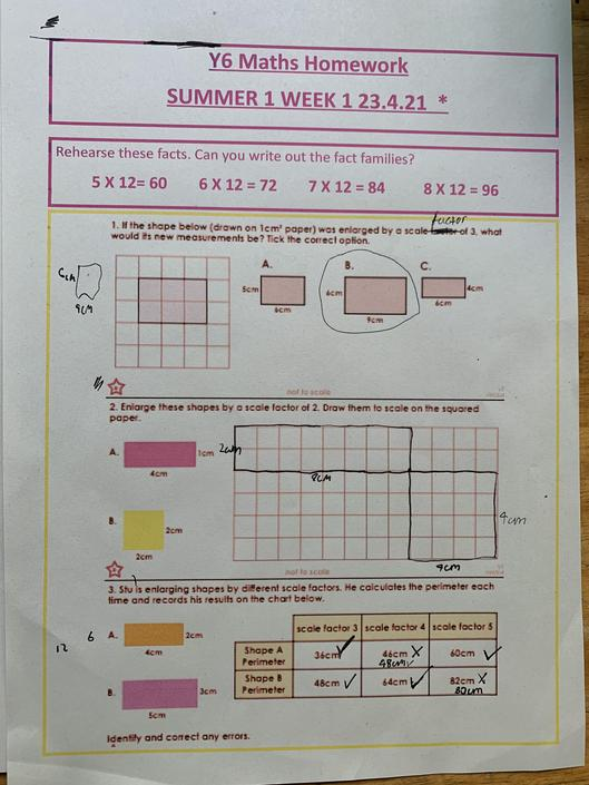 VS - accurate maths work. Well done!