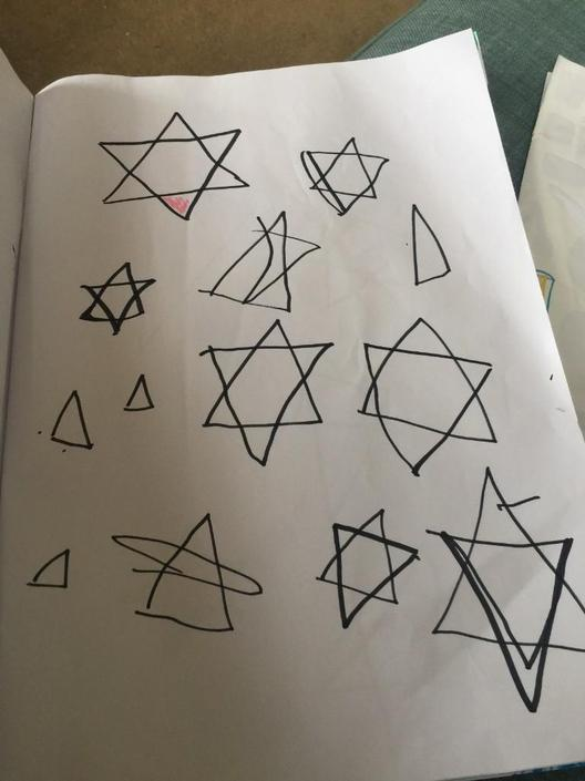 making stars with triangles