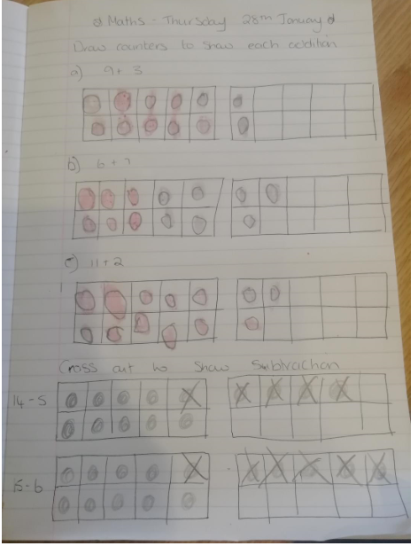I love how you have shown careful thinking in your maths to add and subtract P!