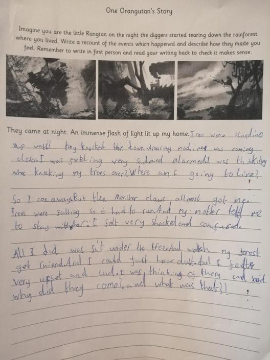 Fantastic! You have included lots of feelings in your writing, well done!