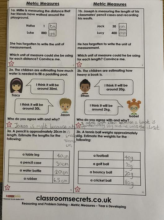 JB- More great estimates and reasoning!