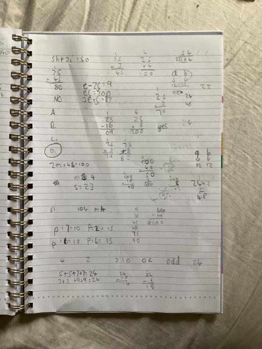 AT- Perfect algebra! It's all correct.