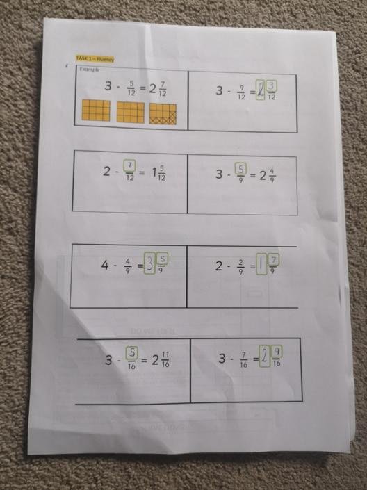 Great fraction work  today