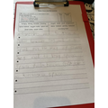 They do need special space food! Look how good your handwriting is. I love this work!