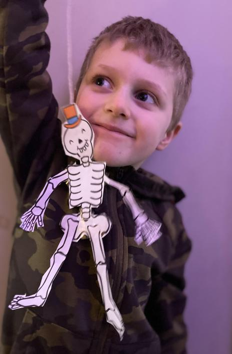 Spooky skeleton!