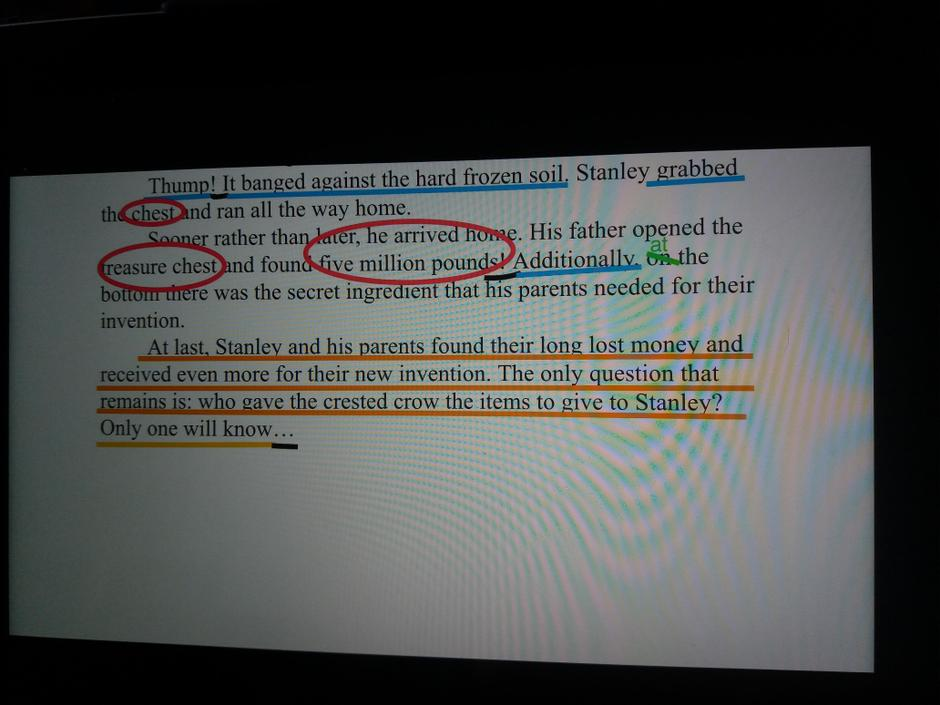 XS-good use of highlighting key words and phrases!