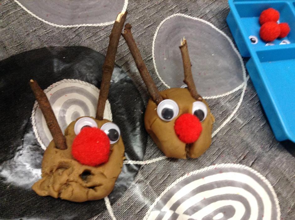 Play dough Reindeer