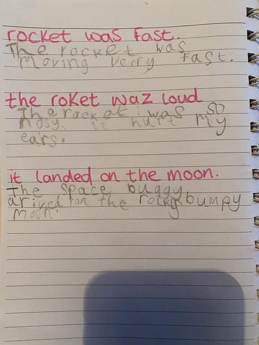 Lovely sentences.  Well done