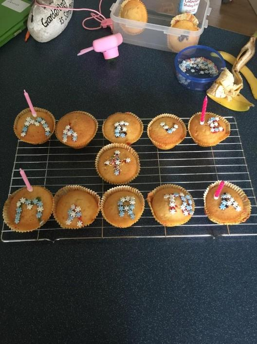 She made and decorated fairy cakes