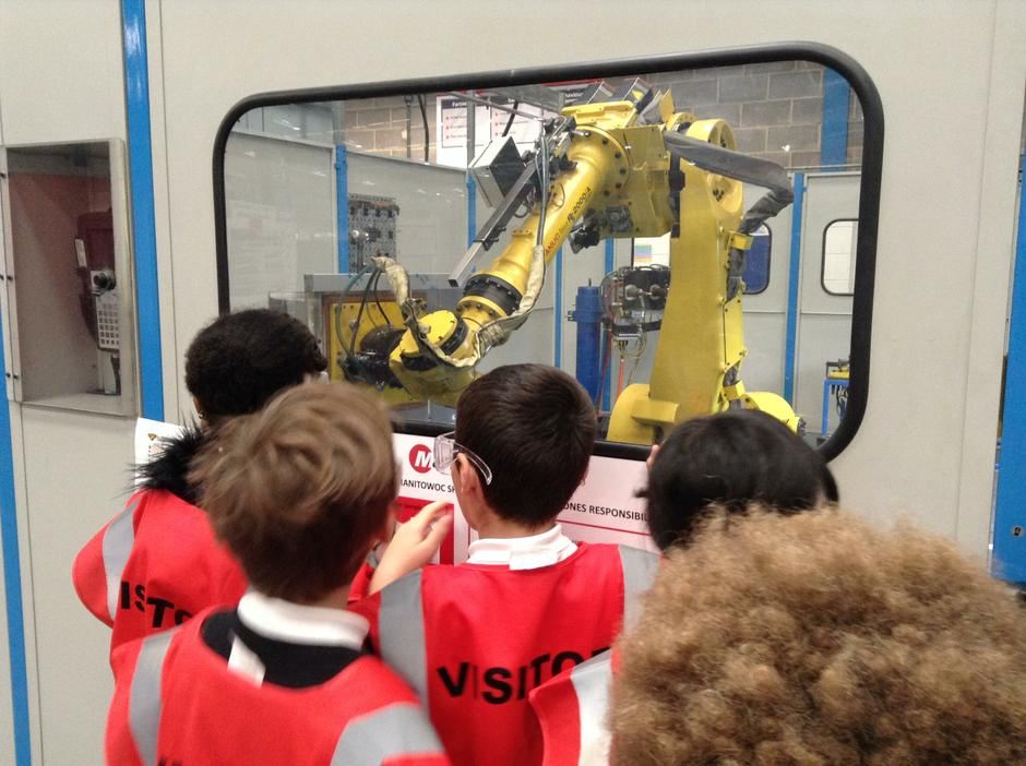 Robot welding.