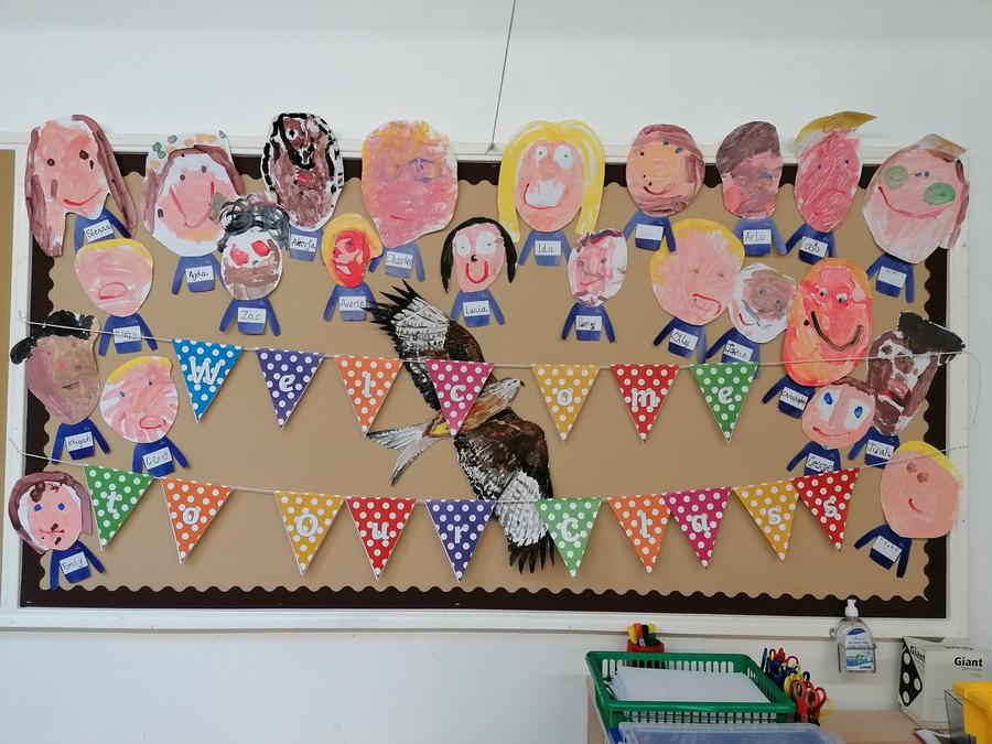 The children have painted self portraits.