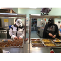 Darth Vader & Storm Troopers serving lunches