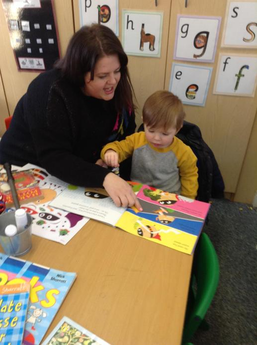 Parents joined us for 'Breakfast with Books'