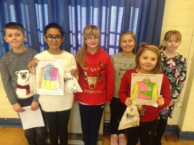 Year 6 Be Bright Be Seen Winners