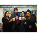 Cheers! Parents who attended the coffee morning