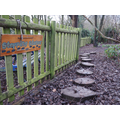 Stepping stones in our woodland area
