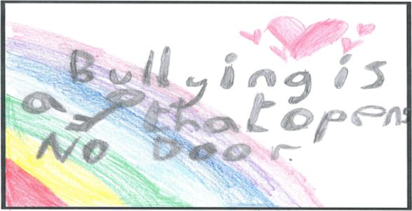 Winning slogan Bullying is a key that opens no door
