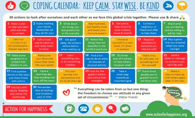 Coping calendar