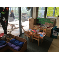 The home corner is always a well loved area of F2.