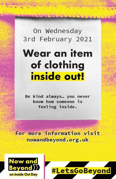 Inside out day Wednesday third February