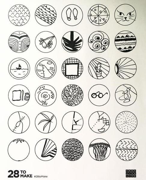 30 circle drawing challenge