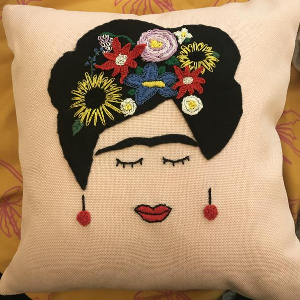 My Frida Kahlo inspired cushion