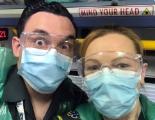 Mrs Beardahs sister working as a paramedic