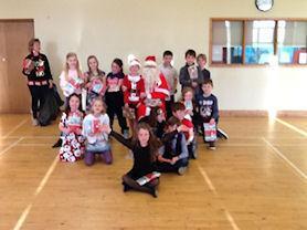 Santa with Oak Class.