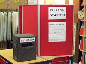 Our library became a polling station.