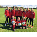 Our Year 5/6 girl footballers