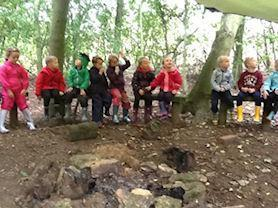 Getting ready for our Woodland activities.