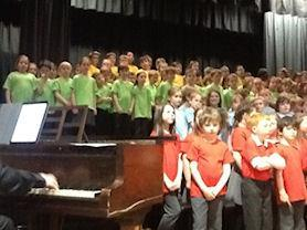Performing at the Vale Choir with over 200 voices.