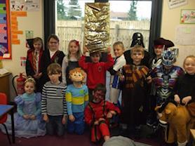 Year 3 children getting into character.