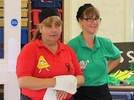 Mrs Burrows and Mrs Fegan are always there to help.