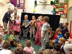 Holly Class with their puppets.