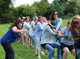 Parent/FOWS winning the tug of war on school Sports Day 2016.
